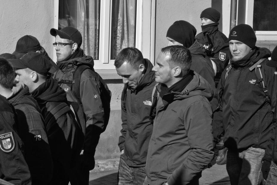 Anton Rummelhagen, Denny Subke, Marc Oliver Matuszewski, HDJ-Aktivist Friedrich Tinz